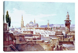 Canvas print  A view of Damascus - Charles Pierron
