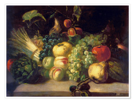 Premium poster  Still life with fruits and vegetables - Theodore Gericault