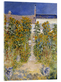 Acrylic print  The Artist's Garden at Vetheuil - Claude Monet