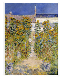 Premium poster  The Artist's Garden at Vetheuil - Claude Monet