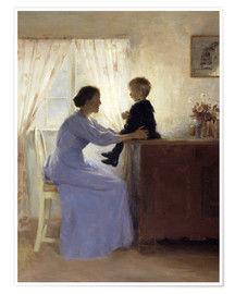 Premium poster  Mother and Child - Peter Vilhelm Ilsted