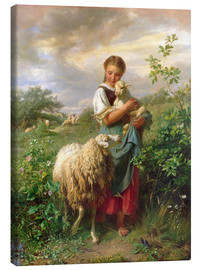 Canvas print  The shepherdess in 1866 - Johann Baptist Hofner