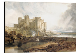 Aluminium print  Conway Castle, c.1802 - Joseph Mallord William Turner