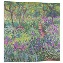 Foam board print  The Iris Garden At Giverny - Claude Monet