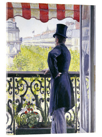 Acrylic print  Man on a balcony - Gustave Caillebotte