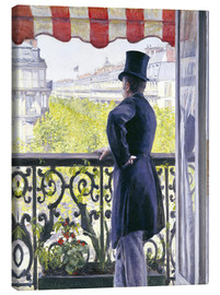 Canvas print  Man on a balcony - Gustave Caillebotte