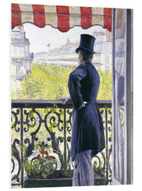 Foam board print  Man on a balcony - Gustave Caillebotte