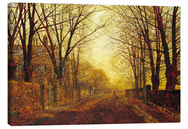 Canvas print  Night in Gold, 1872 - John Atkinson Grimshaw