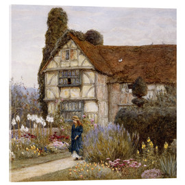 Acrylic print  Old Manor House - Helen Allingham