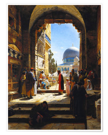 Premium poster  At the Entrance to the Temple Mount, Jerusalem - Gustave Bauernfeind