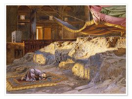 Premium poster  Inside the Dome of the Rock - Carl Friedrich Heinrich Werner