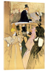 Acrylic print  At the Opera Ball - Henri de Toulouse-Lautrec