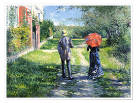 Premium poster  The Path Uphill - Gustave Caillebotte