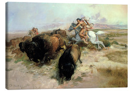 Canvas print  Buffalo Hunt, 1897 - Charles Marion Russell
