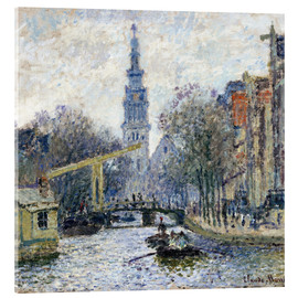 Acrylic print  Canal a Amsterdam - Claude Monet