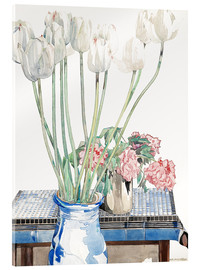 Acrylic print  White tulips - Charles Rennie Mackintosh
