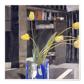 Premium poster  Yellow Tulips - Charles Rennie Mackintosh
