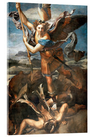 Acrylic print  St.Michael kills the demon - Raffael