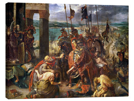 Canvas print  The conquest of Constantinople by the crusaders - Eugene Delacroix