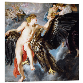 Foam board print  Abduction of Ganymede - Peter Paul Rubens