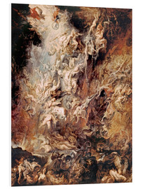 Foam board print  The Descent into Hell of the Damned - Peter Paul Rubens