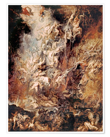 Premium poster  The Descent into Hell of the Damned - Peter Paul Rubens