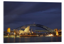 Acrylic print  Sydney Opera and Harbor Bridge - David Wall