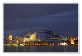 Premium poster  Sydney Opera and Harbor Bridge - David Wall