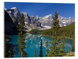 Acrylic print  Lake in front of the Canadian Rockies - Paul Thompson