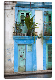 Canvas print  House facade in Havana - Walter Bibikow