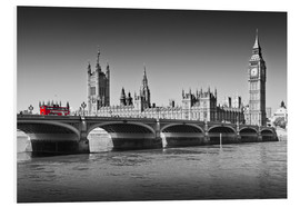 Foam board print  Westminster Bridge and Bus - Melanie Viola
