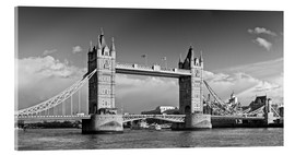 Acrylic print  Tower Bridge black and white - Melanie Viola
