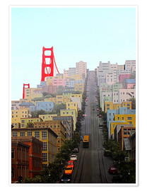 Premium poster  San Francisco and Golden Gate Bridgee - John Morris