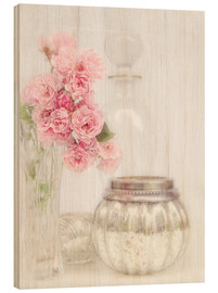 Wood print  Still life with roses - Lizzy Pe