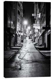 Canvas print  a dusky street at night in Istanbul - Turkey - gn fotografie
