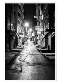 Premium poster  a dusky street at night in Istanbul - Turkey - gn fotografie
