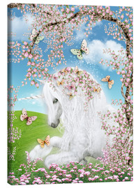 Canvas print  Dreamy unicorn - Dolphins DreamDesign