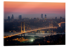 Acrylic print  Bosporus-Bridge at Night (Istanbul / Turkey) - gn fotografie