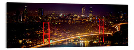 Acrylic print  Bosporus-Bridge at night - red (Istanbul / Turkey) - gn fotografie