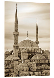 Acrylic print  the blue mosque in sepia (Istanbul - Turkey) - gn fotografie