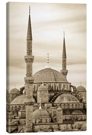Canvas print  the blue mosque in sepia (Istanbul - Turkey) - gn fotografie
