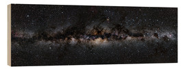 Wood print  Milky way panorama - Jan Hattenbach