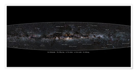Premium poster  Milky Way, labeled (german) - Jan Hattenbach