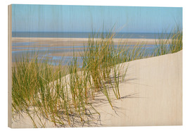 Wood print  Dune in summer - Susanne Herppich