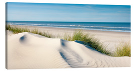 Canvas print  Langeoog seascape with dunes and fine beach grass - Reiner Würz