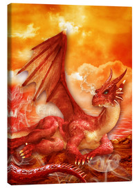 Canvas print  Red Power Dragon - Dolphins DreamDesign