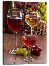 Canvas print  Wine in glasses - Edith Albuschat