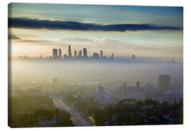 Canvas print  LA skyline in the morning fog - Walter Bibikow