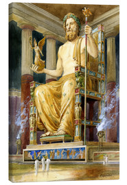 Canvas print  Statue of Zeus at Oympia - English School