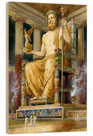 Wood print  Statue of Zeus at Oympia - English School